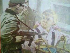 Children in the occupied Crimea propagandize military exploits of the pioneers