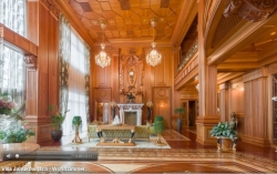 Internet users can in detail consider the rooms of the elegant palace of the ex-president