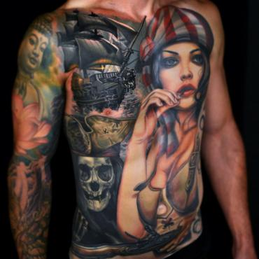 Types of tattoos, examples of Artistic Tattoos