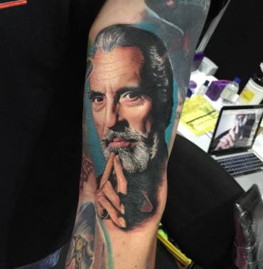 Tattoos featuring famous heroes