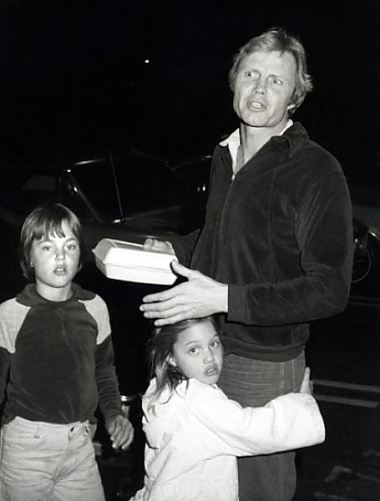 Angelina Jolie with father John Wojt and brother James