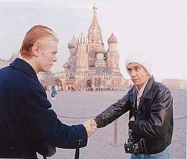 David Bowie and Iggy Pop on Red Square