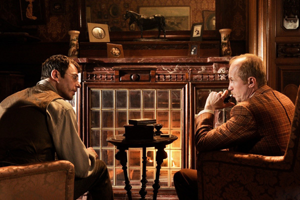 "A shot from the series ""Sherlock Holmes"""