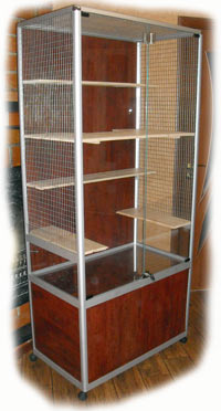 Cage showcase aluminum profile for chinchillas do it yourself