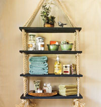 Suspended shelving for home