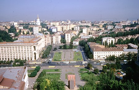 Independence Square (Independence Square), the central square of Kiev