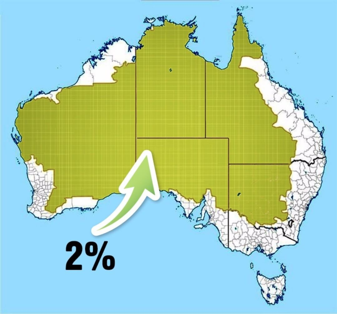 2% of the population of Australia on the map