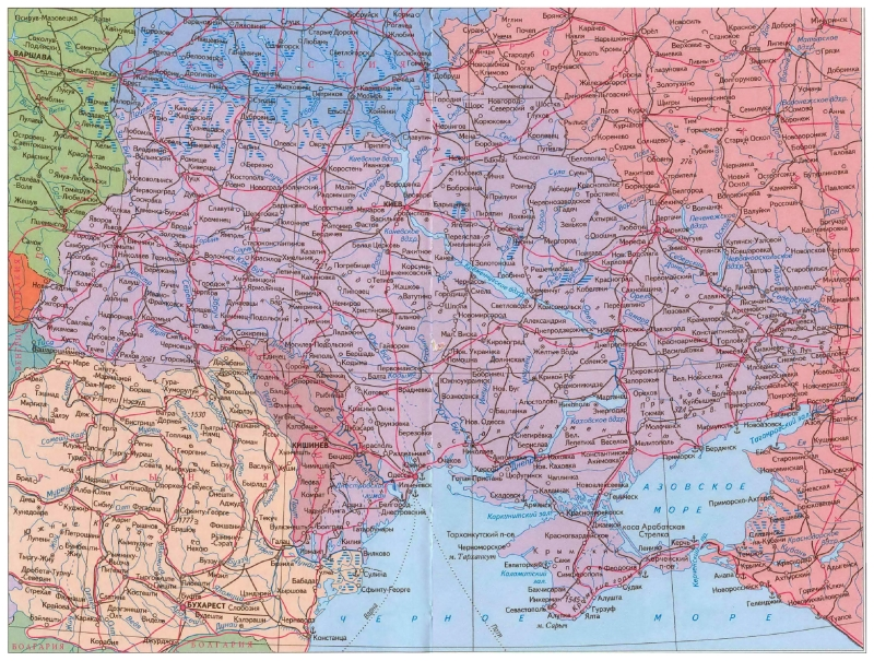 Highways map of Ukraine 2950x2230