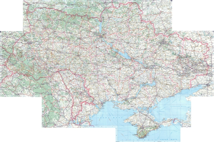 Map of highways of Ukraine 9449x6289 1: 1250000