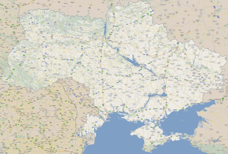 Large road map of Ukraine with cities in English 3310x2229