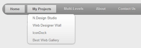 CSS3 Dropdown Menu 3