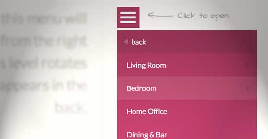 Responsive Multi-Level Menu drop down
