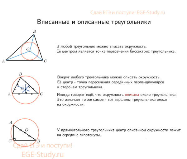 Triangles inscribed and described