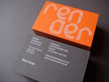 Design of business cards