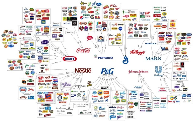 The illusion of choice of brands