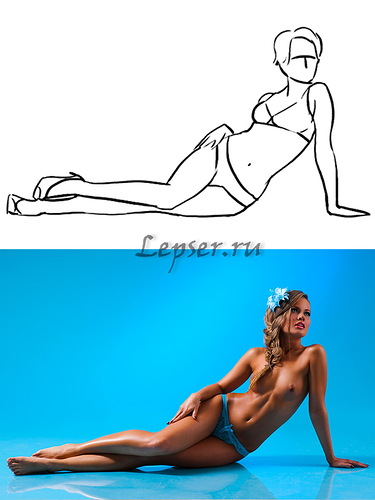 poses of girls for a photo shoot